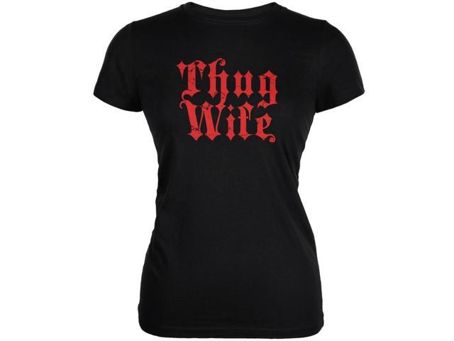 Thug Wife Black Juniors Soft T-Shirt