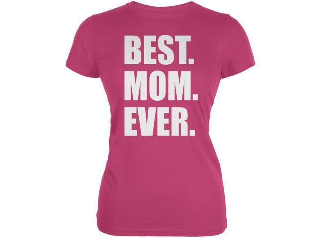Mother's Day Best Mom Ever Berry Pink Juniors Soft T-Shirt