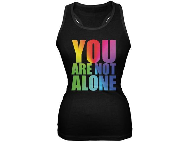 You Are Not Alone LGBT Bruce Jenner Black Juniors Soft Tank Top