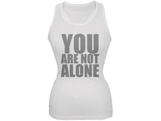 You Are Not Alone Bruce Jenner White Juniors Soft Tank Top