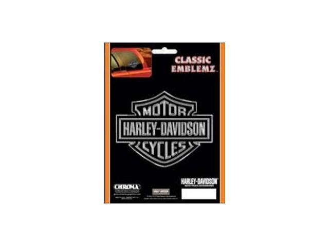 Harley-Davidson Logo - Chrome/Black Embossed Decal