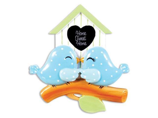 Birdhouse Christmas Tree Ornaments : Birdhouse couple personalized christmas tree ornament