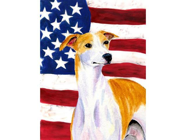 USA American Flag with Whippet Flag Garden Size