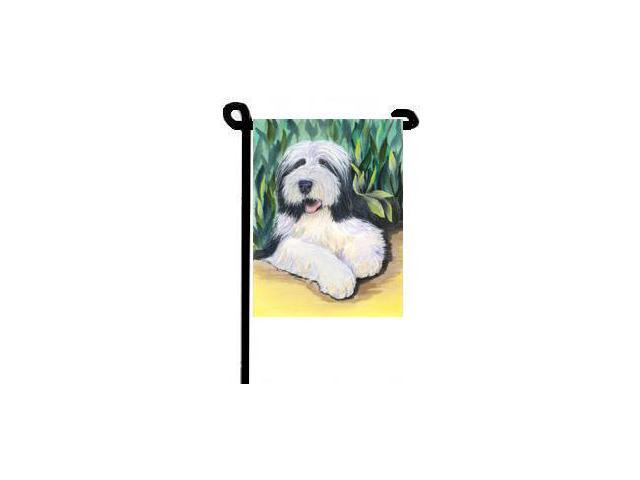 Bearded Collie Flag Garden Size