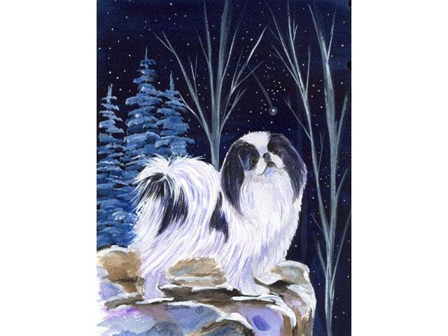 Starry Night Japanese Chin Flag Garden Size