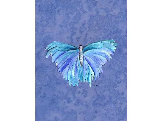 Butterfly on Slate Blue Flag Garden Size