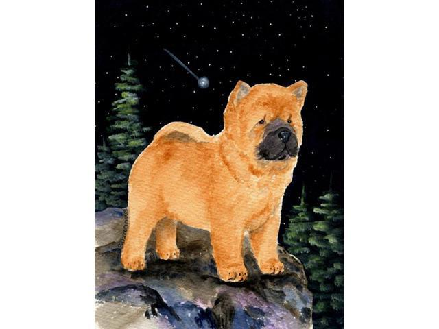 Starry Night Chow Chow Flag Garden Size