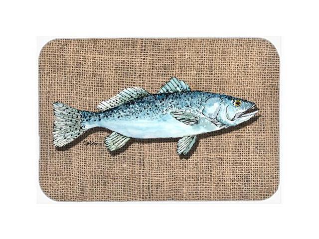 Fish speckled trout kitchen or bath mat 20x30 for Fish bath mat