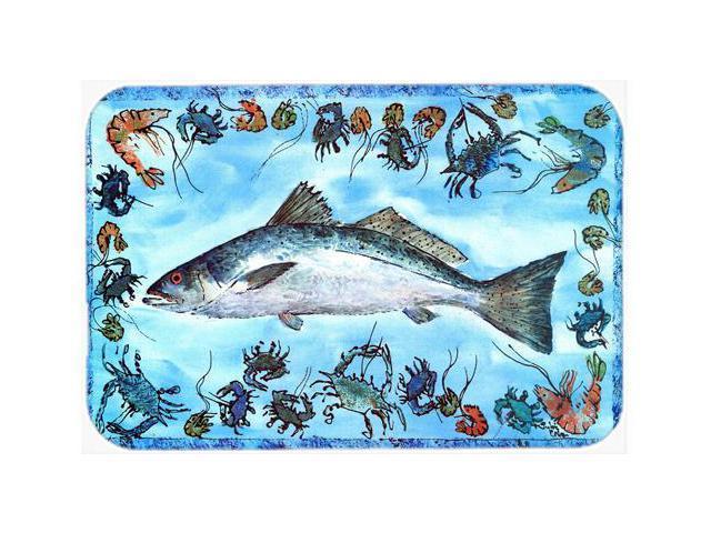 Fish speckled trout kitchen or bath mat 24x36 8086 for Fish bath mat