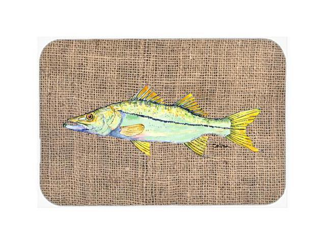 Fish snook kitchen or bath mat 20x30 for Fish bath mat