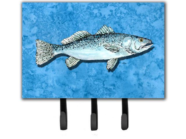 Fish trout leash holder or key hook for Fish on a leash
