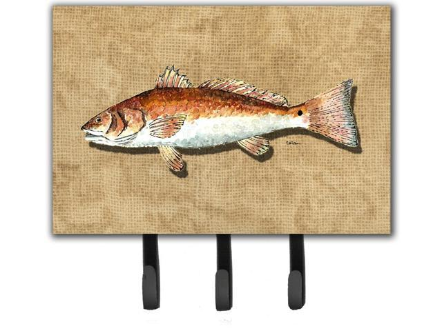 Red fish leash or key holder for Fish on a leash