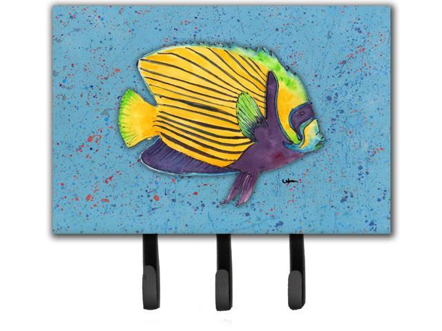 Tropical fish on blue leash or key holder for Fish on a leash