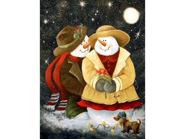 Love at Christmas Snowman Flag Garden Size PJC1016GF