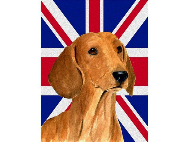 Carolines Treasures SS4929GF Dachshund With English Union Jack British Flag Flag Garden Size