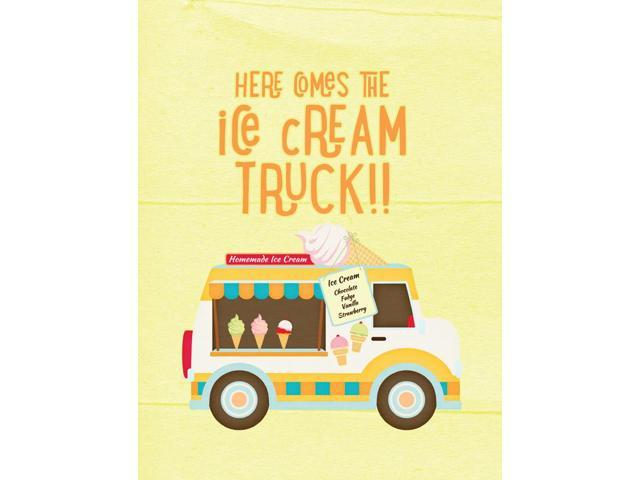 Here comes the ice cream truck Flag Garden Size SB3107GF