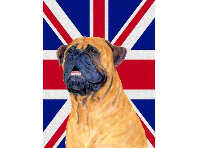 Carolines Treasures SS4962GF Bullmastiff With English Union Jack British Flag Flag Garden Size