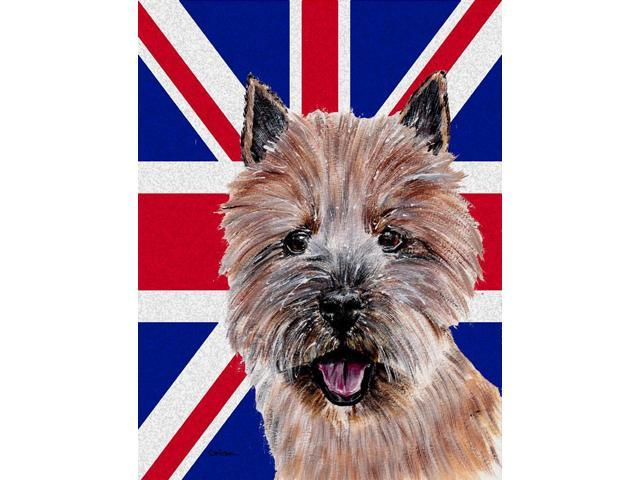Carolines Treasures SC9877GF Norwich Terrier With English Union Jack British Flag Flag Garden Size