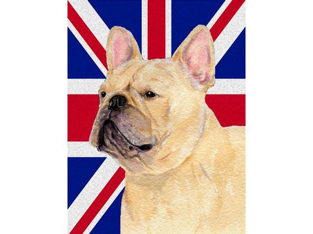 Carolines Treasures SS4927GF French Bulldog With English Union Jack British Flag Flag Garden Size