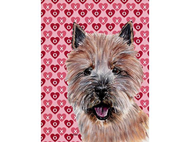 Carolines Treasures SC9710GF Norwich Terrier Hearts and Love Flag Garden Size