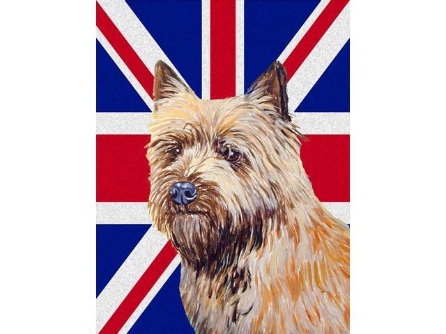 Carolines Treasures LH9472GF Cairn Terrier With English Union Jack British Flag Flag Garden Size