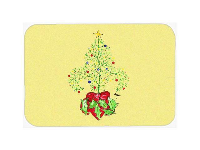 Christmas Tree Fleur De Lis Kitchen Or Bath Mat 24x36
