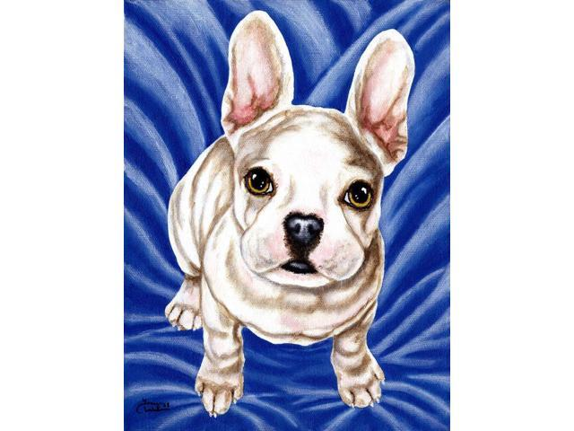 Diamond in Blue French Bulldog Flag Canvas House Size AMB1351CHF