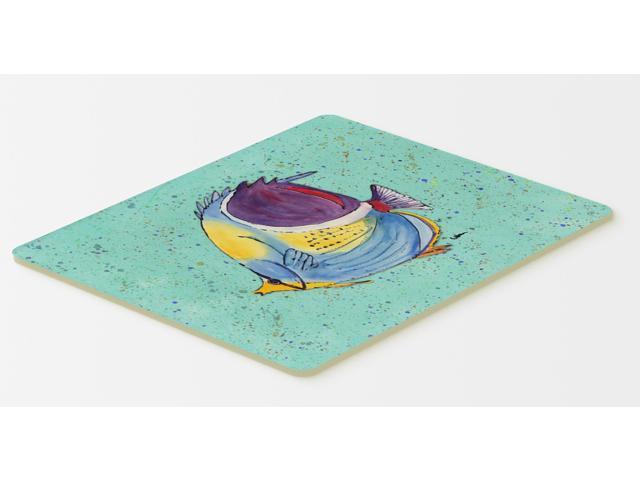 Tropical fish on teal kitchen or bath mat 20x30 for Fish bath mat