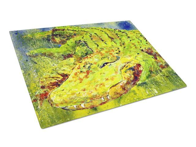 Alligator  Glass Cutting Board Large