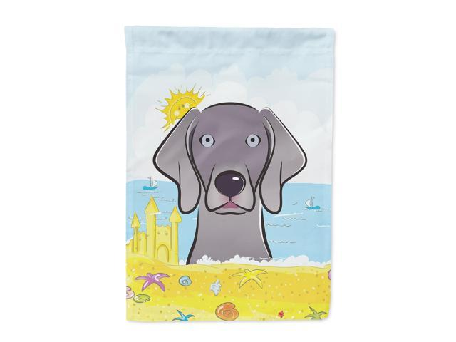 Weimaraner Summer Beach Flag Garden Size BB2099GF