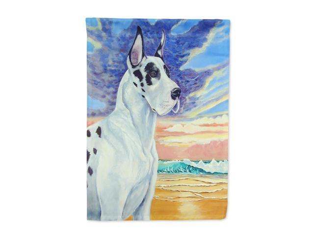 Great Dane Harlequin Dane at Sunset Flag Canvas House Size