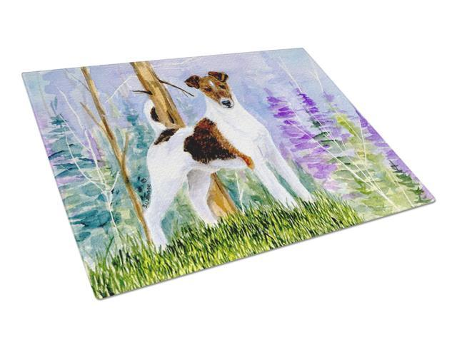 Jack Russell Terrier Glass Cutting Board Large
