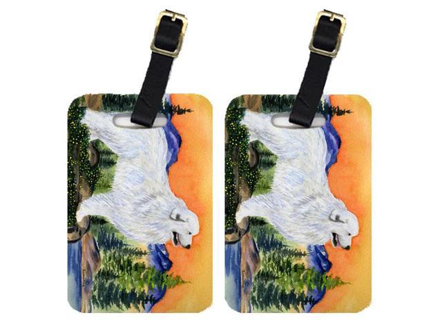 Pair of 2 Great Pyrenees Luggage Tags