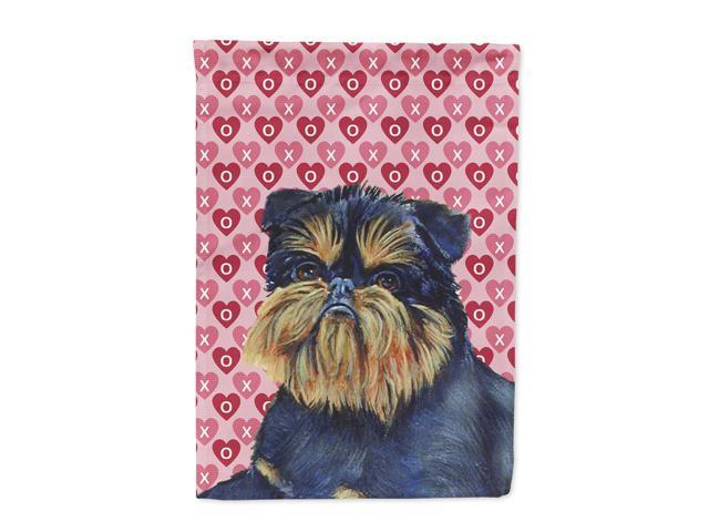 Brussels Griffon Hearts Love and Valentine's Day  Flag Canvas House Size