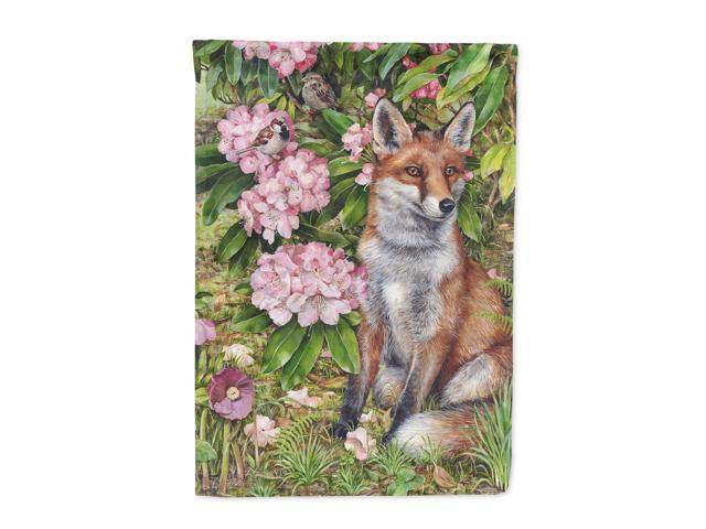 Fox Waiting in Flowers Flag Garden Size CDCO0442GF
