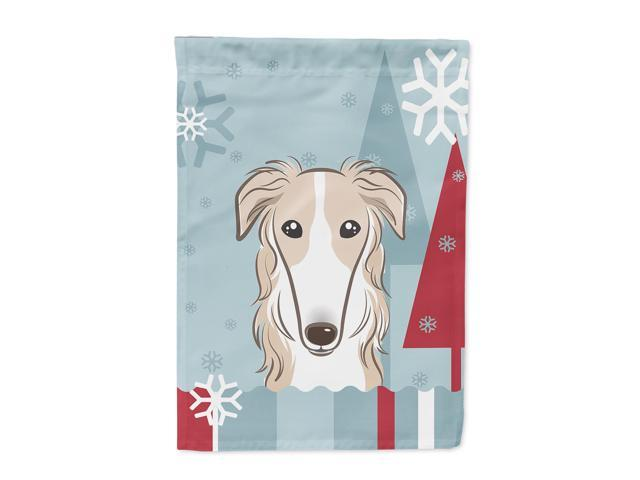 Carolines Treasures BB1724GF Winter Holiday Borzoi Flag Garden Size