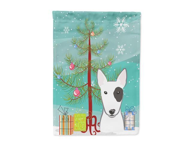 Christmas Tree and Bull Terrier Flag Garden Size BB1581GF
