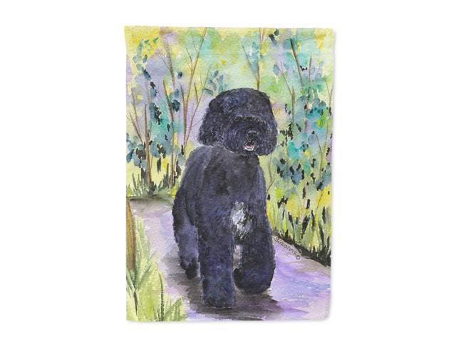 Portuguese Water Dog Flag Canvas House Size
