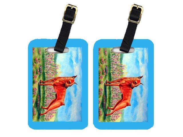 Pair of 2 Min Pin Luggage Tags