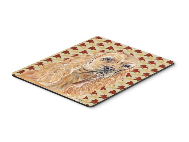Cocker Spaniel Fall Leaves Mouse Pad, Hot Pad or Trivet