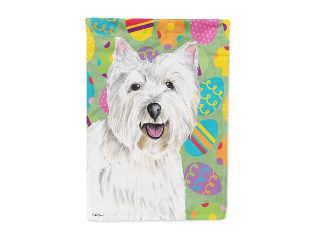 Westie Easter Eggtravaganza Flag Canvas House Size