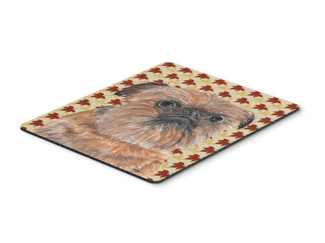 Brussels Griffon Fall Leaves Mouse Pad, Hot Pad or Trivet