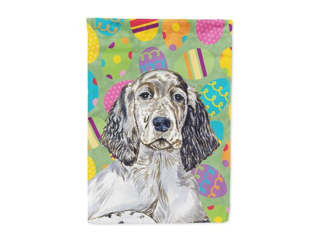 English Setter Easter Eggtravaganza Flag Canvas House Size