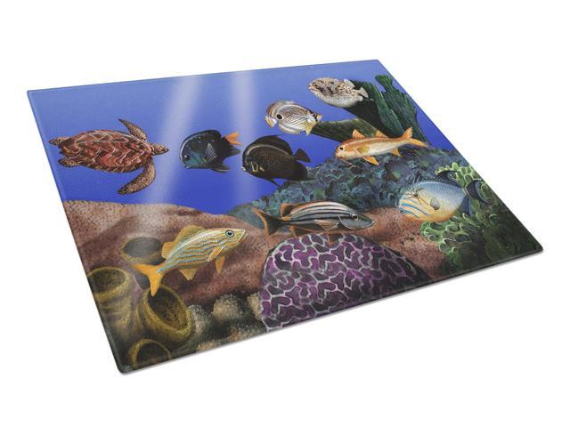 Undersea Fantasy 1 Glass Cutting Board Large PTW2028LCB
