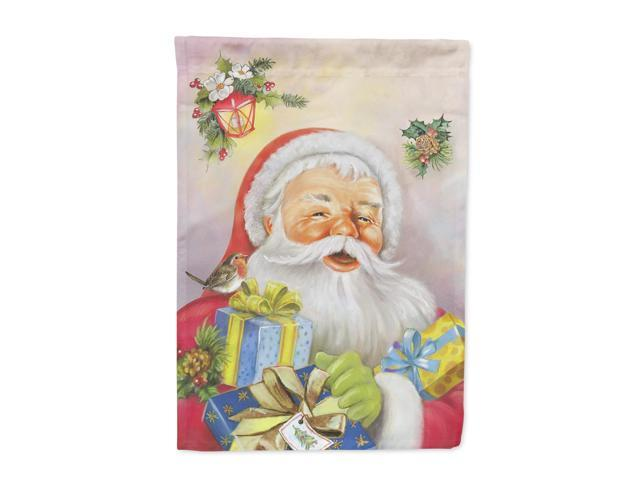 Christmas Santa Claus Presents Flag Canvas House Size APH5814CHF