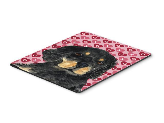 Gordon Setter Hearts Love and Valentine's Day Mouse Pad, Hot Pad or Trivet