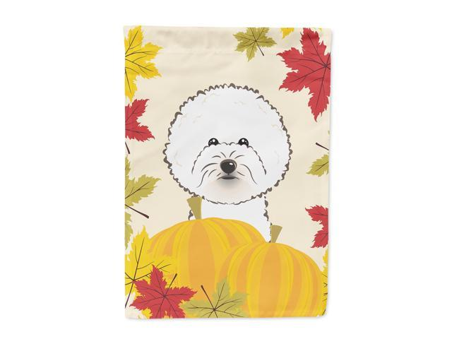 Bichon Frise Thanksgiving Flag Garden Size BB2023GF