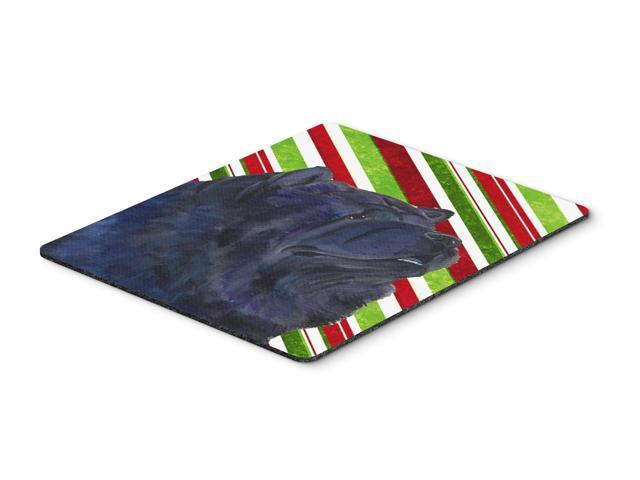Chow Chow Candy Cane Holiday Christmas Mouse Pad, Hot Pad or Trivet