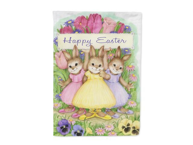 Three Bunnies Happy Easter Flag Canvas House Size CDCO0331CHF