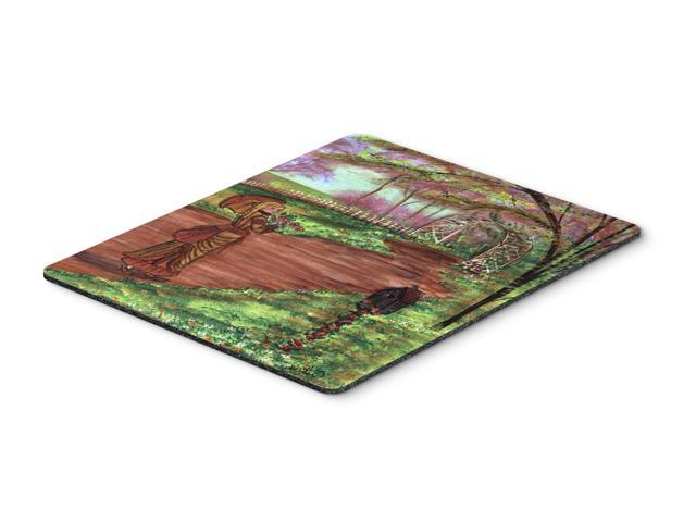 Fancy Lady on a Stroll Mouse Pad, Hot Pad or Trivet